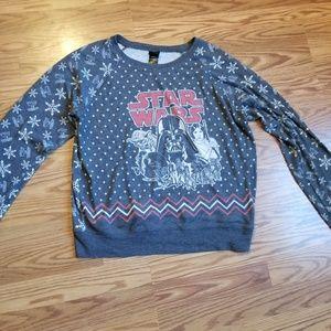 Women's Star Wars holiday light sweater